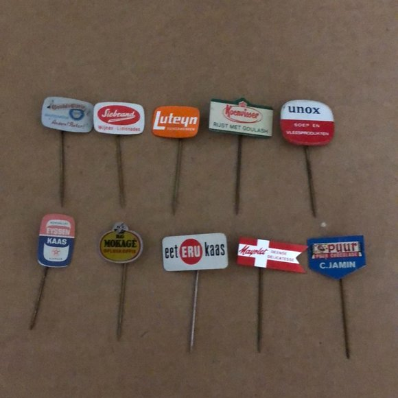 Vtg Collectible Hat Stick Pin Lot Advertising